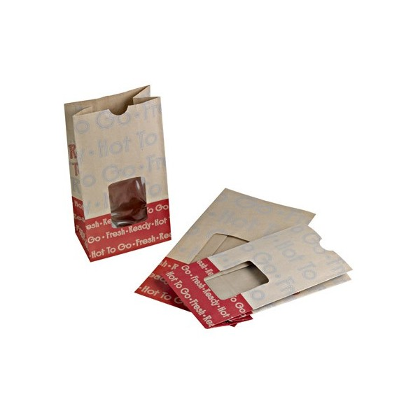Petit sac en papier alimentaire co kraft renforc pour for Sac kraft fenetre
