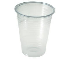 Gobelet plastique transparent 18 à 20 cl