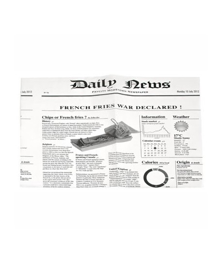 "Papier ingraissable blanc ""Daily News"""
