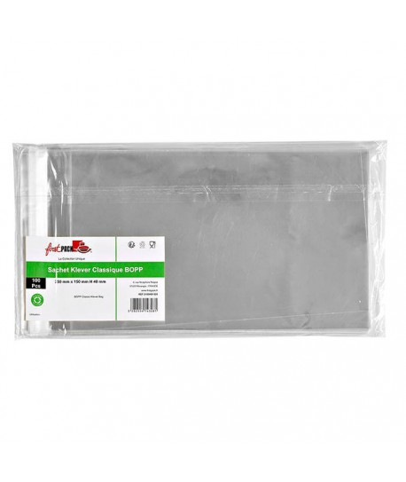 Sachet transparent zip 15x25