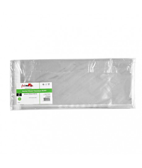 Sachet transparent zip 15x35