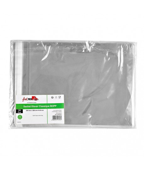 Sachet transparent zip 20x25
