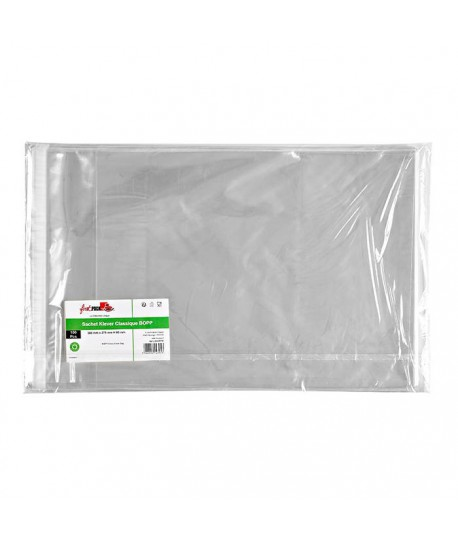 Sachet transparent zip 27x36