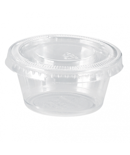 Pot en plastique PP transparent 50ML