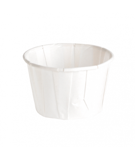 Pot papier plissé blanc 60 ml