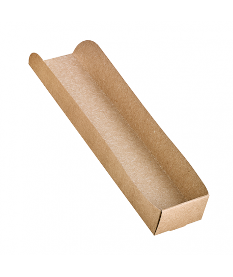 Porte hot-dog en carton kraft brun