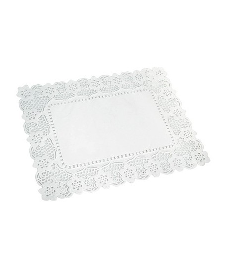 Dentelle rectangle en papier 40x30cm